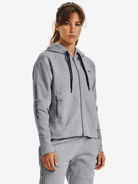 Under Armour Rival Fleece Embroidered Full Zip Pulover