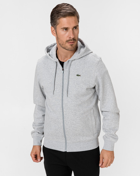 Lacoste Sport Hooded Lightweight Bi-material Pulover
