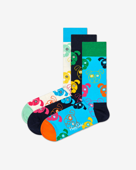 Happy Socks Dog Gift Box Nogavice 3 para